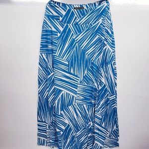 Tommy Bahama blue white print maxi skirt BB1651